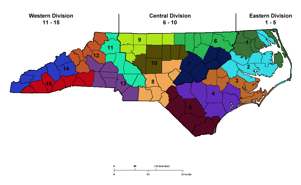 ARES Districts in North Carolina